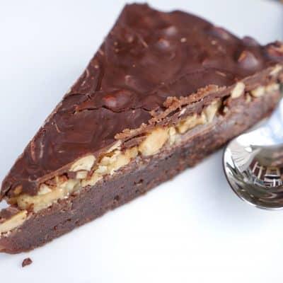 vegansk snickerskladdkaka