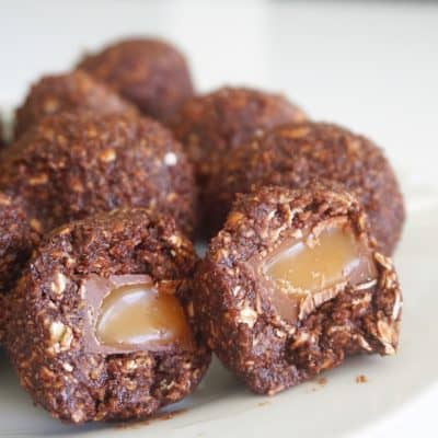chokladbollar med center