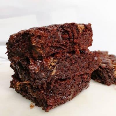 kladdig vegansk brownie