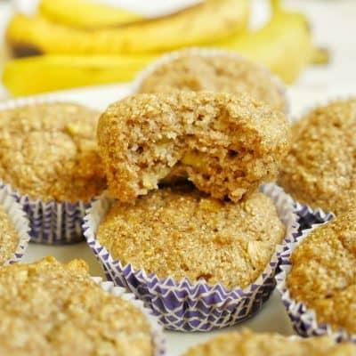 Nyttiga bananmuffins