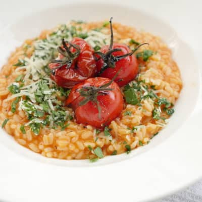 tomatrisotto med gremolata