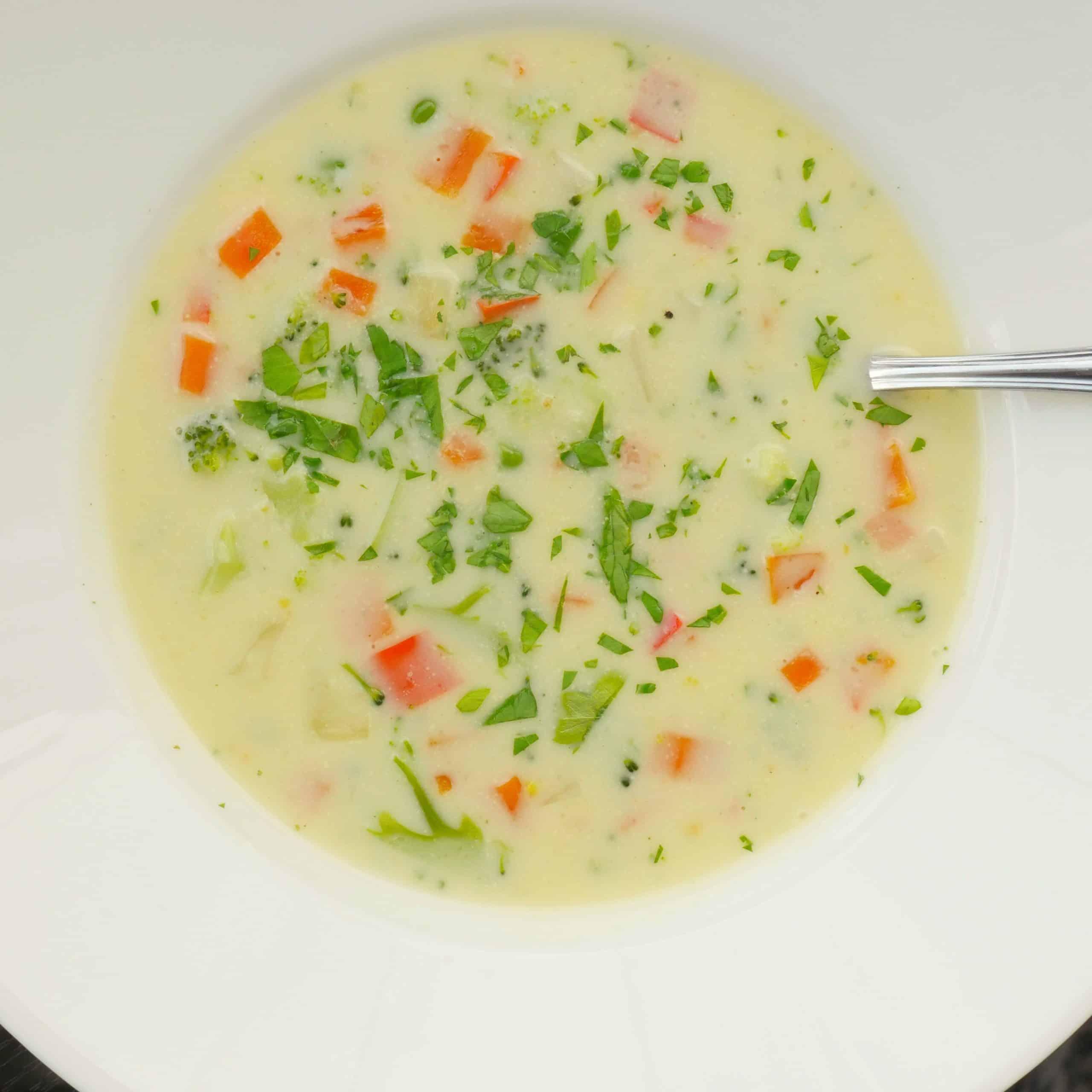 krämig grönsaksoppa
