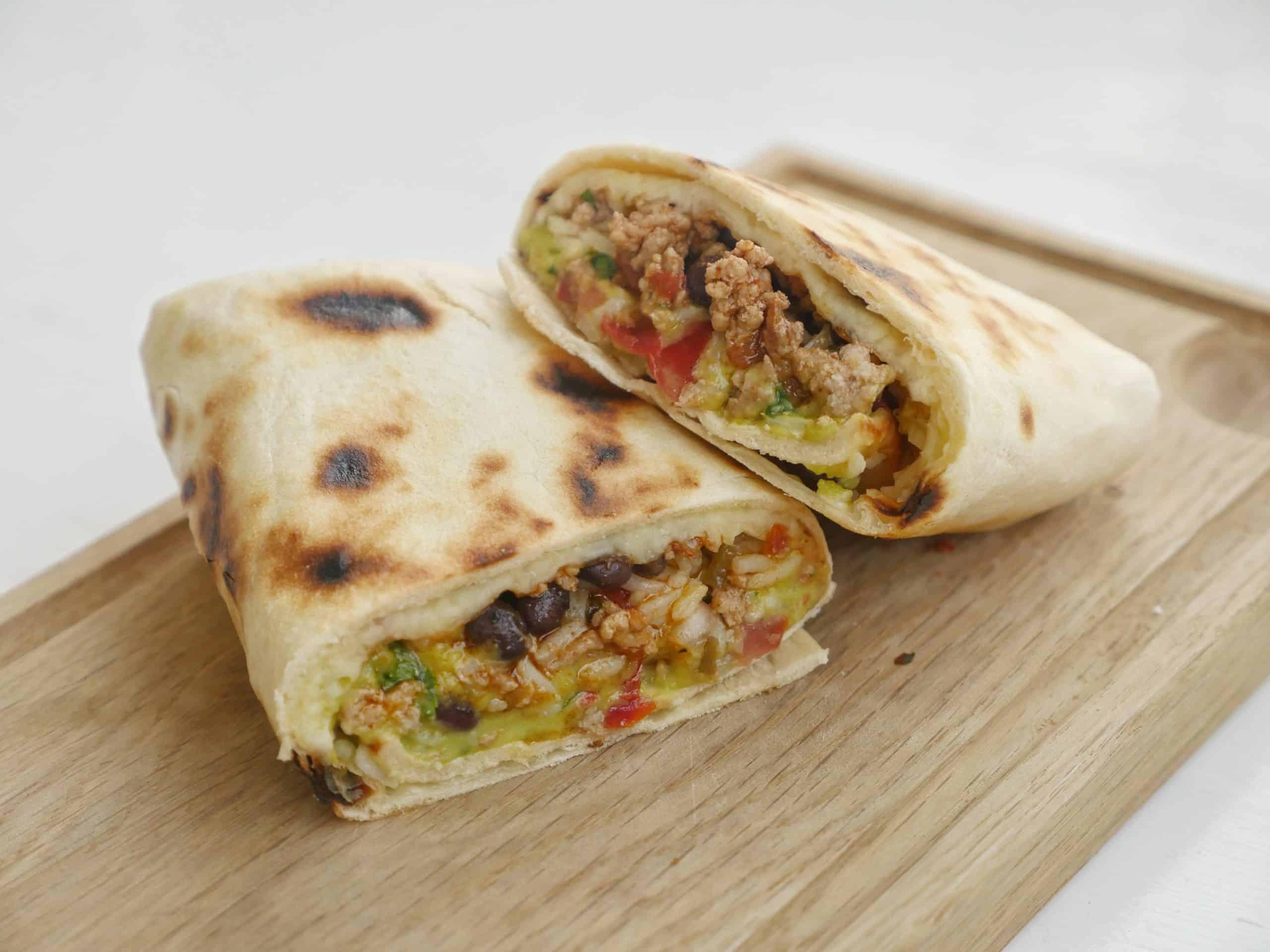hemamgjord burrito