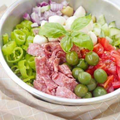 pastasallad med italiensk dressing