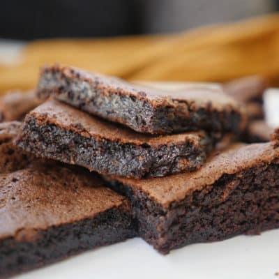 brownies med brynt smör