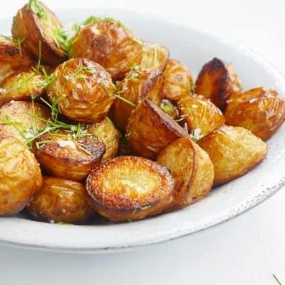 krispig potatis i ugn