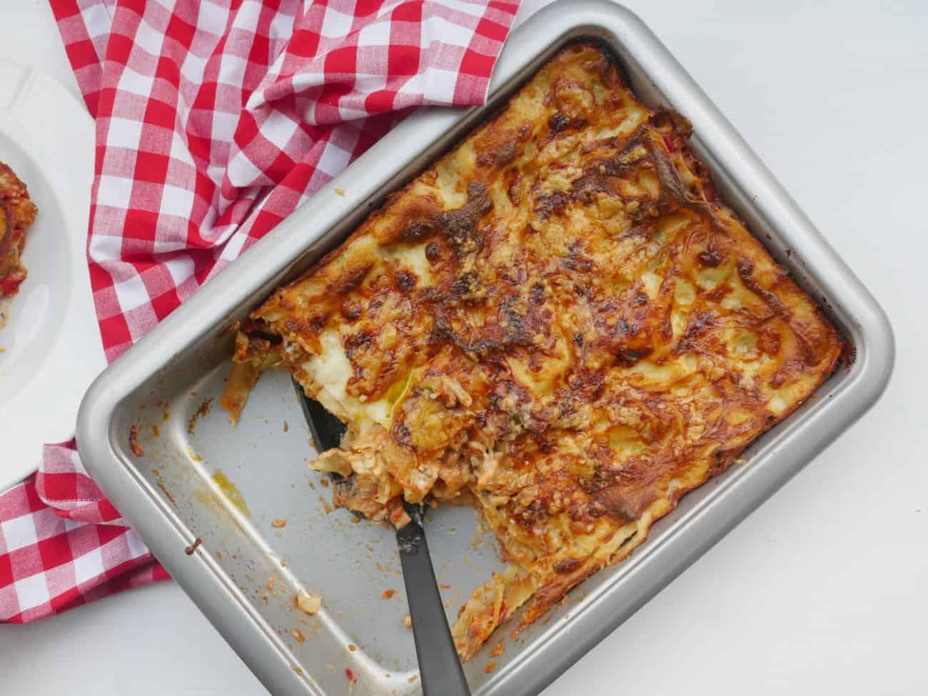 Enkel och god vegetarisk lasagne
