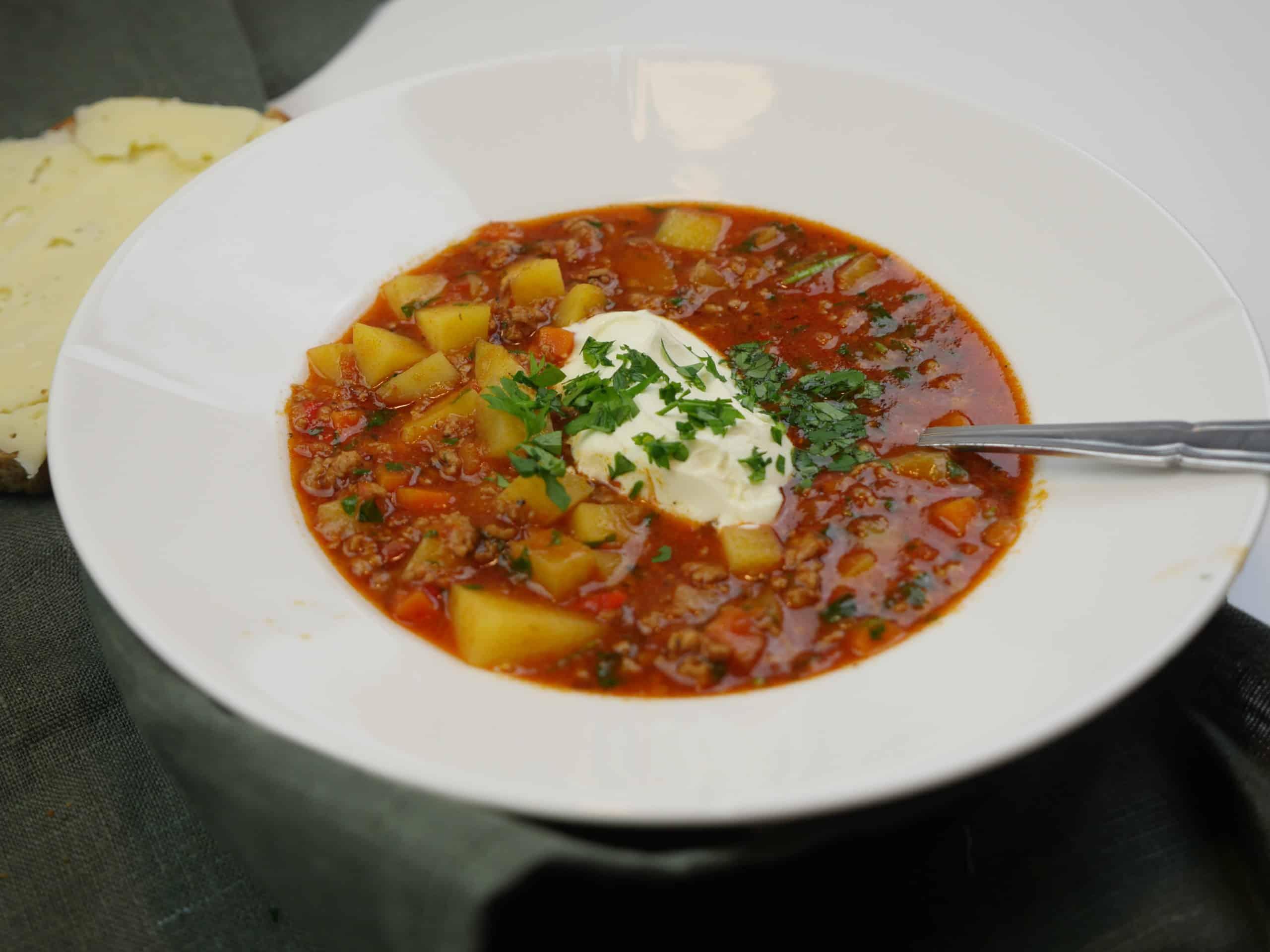 Köttfärssoppa - god och värmande soppa