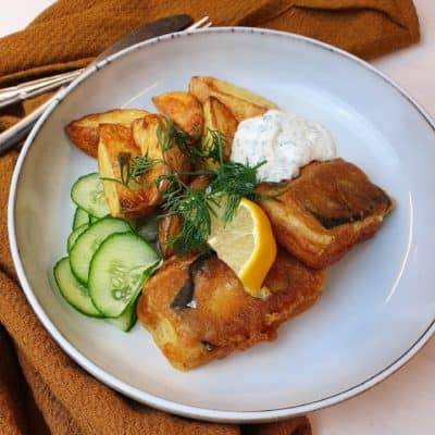 Tofish and chips - vegetarisk fish and chips