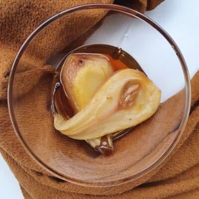 Ugnsbakade päron - servera med glass eller till yoghurt