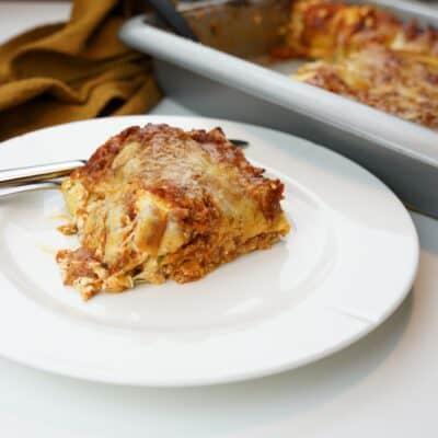Krämig lasagne med ricotta