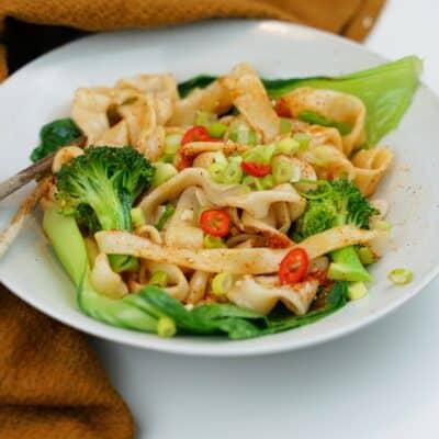 Biang biang noodles - hemmagjorda nudlar med smakrik chiliolja