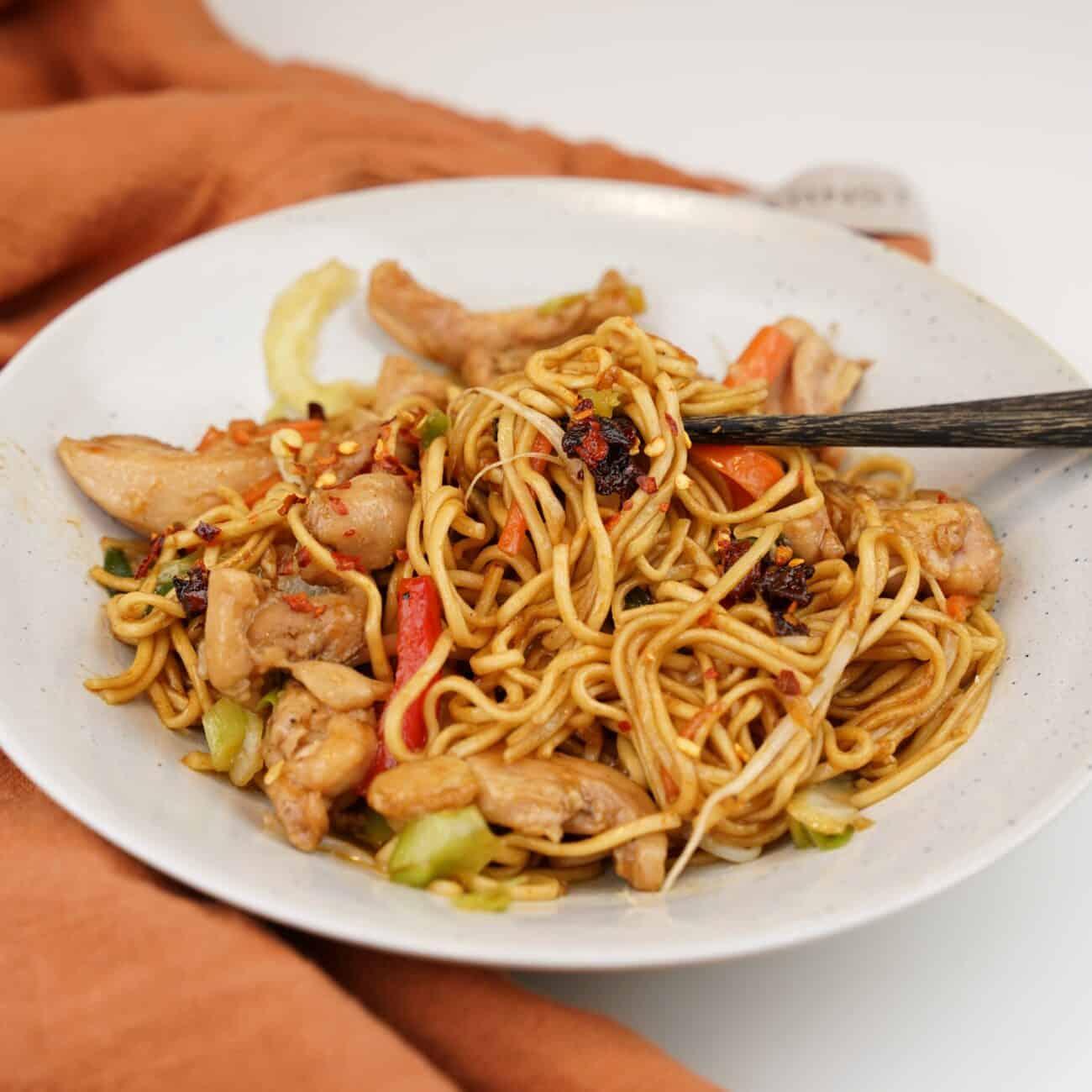 Chicken chow mein – god kycklingwok med nudlar