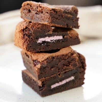 Fudge brownie med oreos