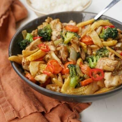 Chicken chop sue - enkel och mild wok