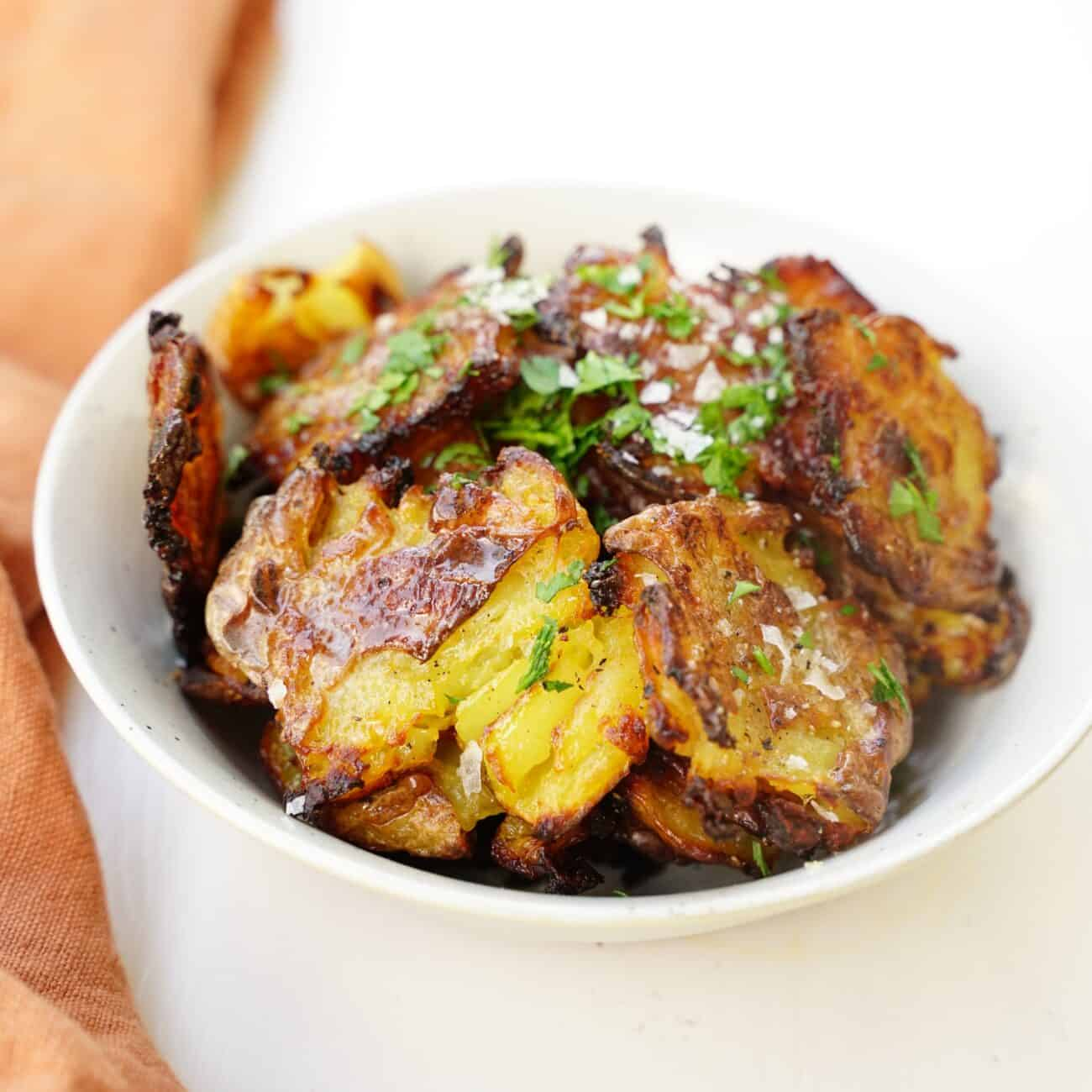 Saltvinäger smashed potatoes