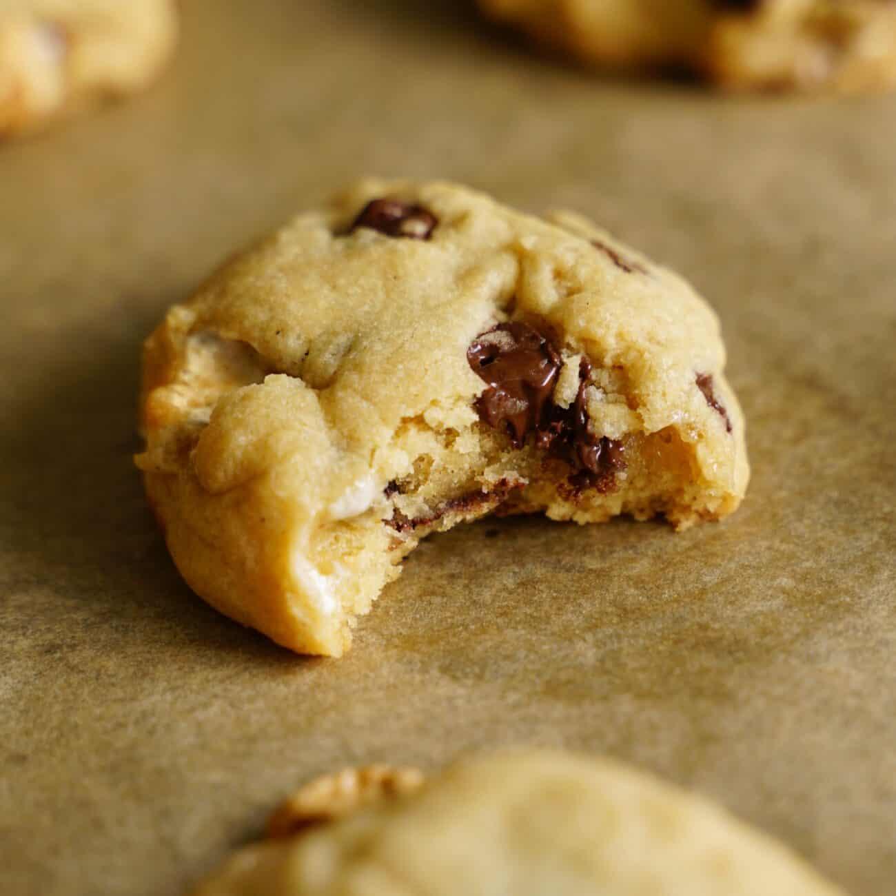 Cookies utan ägg – med chokladknappar och marshmallows