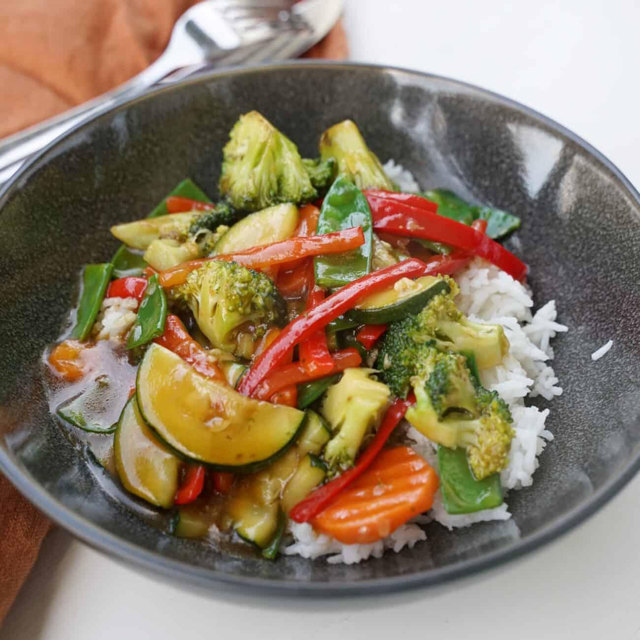 Vegansk grönsakswok